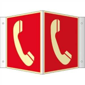 Hoekplaat, neusbord Brandmelder HIGHLIGHT PVC 20 x 20cm met 4 gaten à 3 mm Ø Lichtdichtheid: HIGHLIGHT 48 mcd/m2