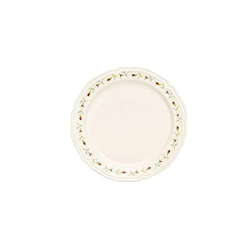 JSJJARF Vajillas 8/10 Pulgadas de Plato de Cena de Rosa de cerámica Cerámica Placa de bejas Occidentales Placas de Postre Mesa de Cocina Suministros de Fiesta (Color : 8inch Rose Flower 2)