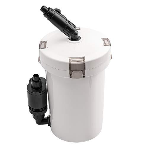 NICREW Filtro Esterno Acquario, Filtro Acquario per Acquario con Flusso Regolabile, 2 Tipi di Filtrazione, Flusso Massimo di 400L/H