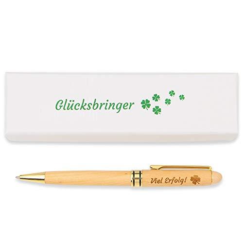 Viel Erfolg Kugelschreiber Geschenk für Prüfungen, Tests oder Bewerbungen. Blaue Tinte 1 mm Strichstärke, Viel Glück