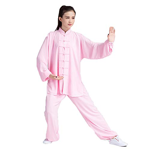 annsr Tai Chi pak voor dames en heren Tai Chi Performance-kleding Kung uniform lange mouwen vechtsport trainingspak ochtendoefeningen