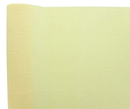 Premium Italian Heavy 180 g Crepe Paper Roll Natural Rose Yellow 13.3 sqft