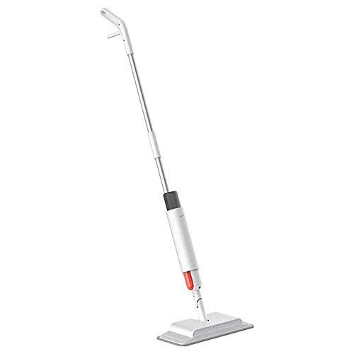 Tickas Spray Mop pour Le Nettoyage des sols Balayeuse et vadrouille 2-en-1 avec réservoir de poussière et d'eau Pulvérisation Grand Angle Vadrouille à Plancher en Microfibre de Bois Franc Vadrouille