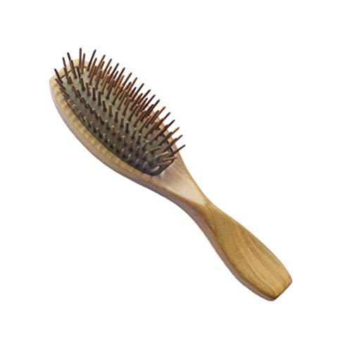 SOLUSTRE Poignée en bois brosse à cheveux peigne coussin brosse de massage tête cuir chevelu massage peigne airbag peigne