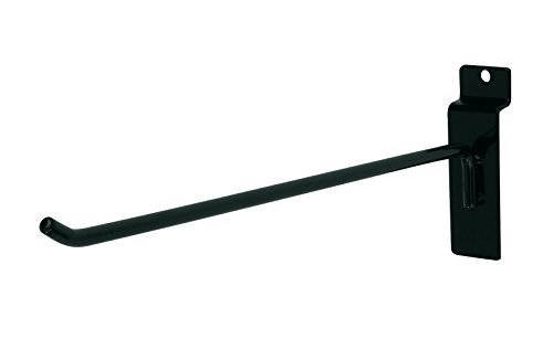 10 inch Black Peg Hook for Slatwall - 50 Count