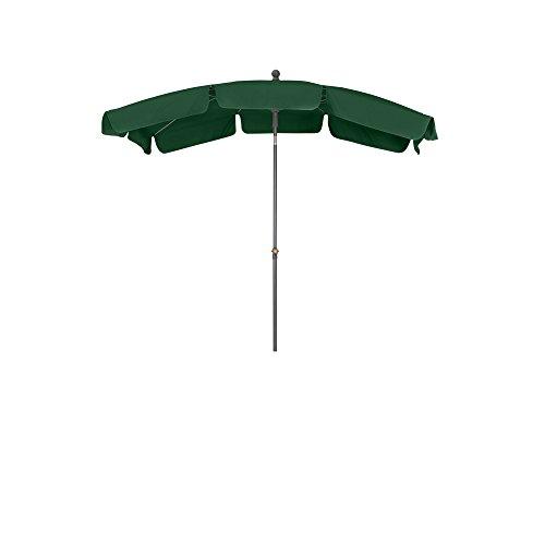 Siena Garden 271460 Tropico Parasol Base d'Acier/Polyester Vert/Anthracite 210 x 140 cm