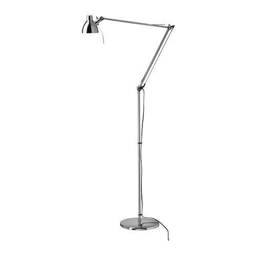 Ikea ANTIFONI - Lampa podłogowa/do czytania, niklowana