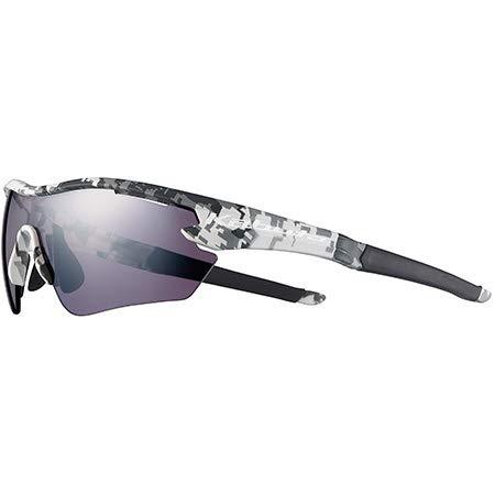 オージーケーカブト(OGK KABUTO) 自転車 スポーツサングラス/アイウエア 101 (レンズ2セット) マットホワイトカモ/撥水スペクトルモーブミラー サイズ:M/L