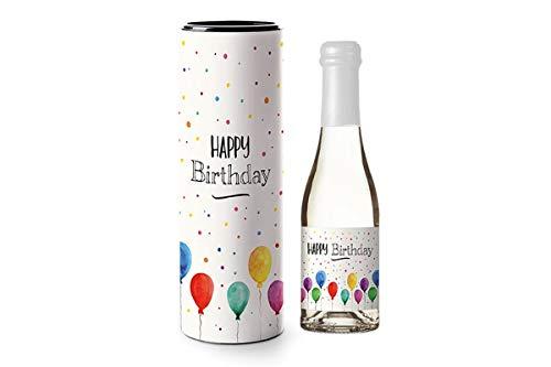 Sekt Piccolo Geschenkset Verpackung mit nette liebevollen Botschaften Sprüche, Geschenk Ideen zu Ostern Muttertag Geburtstag (Happy Birthday)