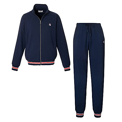 FILA Herren Lounge-Set, Cotton Brushed Fleece, Navy, XL