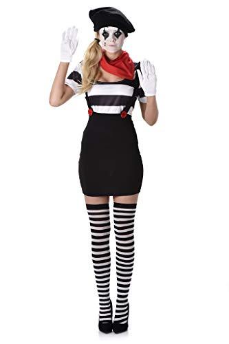 Karnival 81121 Mime Meisje Kostuum, Vrouwen, Multi, Extra Klein
