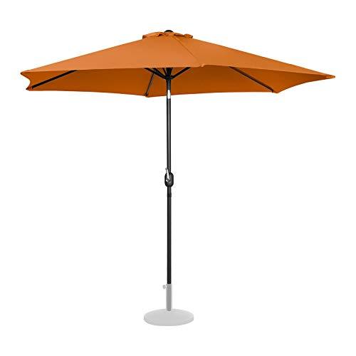 Uniprodo Sombrilla para Terraza Uni_Umbrella_TR300OR (Color Naranja, Hexagonal, Pantalla De Ø 300 cm, Inclinable)