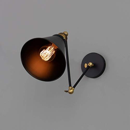 KOSILUM - Applique articulée à abat-jour conique - Melba - Lumière Blanc Chaud Eclairage Salon Chambre Cuisine Couloir - 1 x max 60W - - E27 - IP20