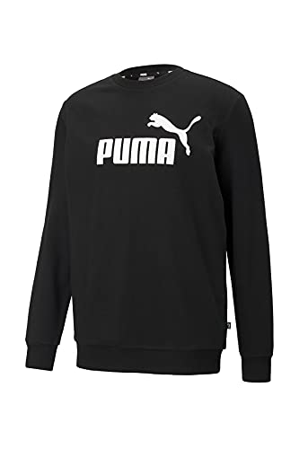 PUMHB #Puma Ess Big Logo Crew TR, Felpa Uomo, Puma Black, L