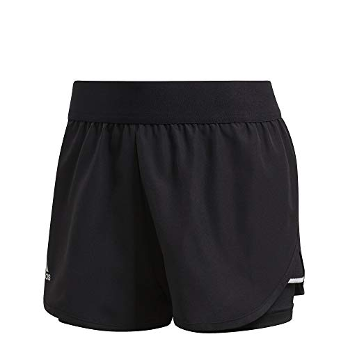 adidas Damen Kurze Hosen Club Short, Negro/Plamat/Blanco, S, FK6999
