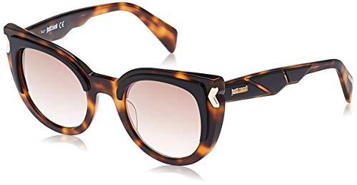 Just Cavalli JC834S-56G Gafas de sol, Havana/Mirror Brown, 49 para Mujer