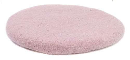 feelz Filzkissen Sitzkissen rund Filz Verschiedene pink-, lila-, beerentöne 100% Wolle 35 cm Höhe 2-3 cm Handarbeit (Rosa)
