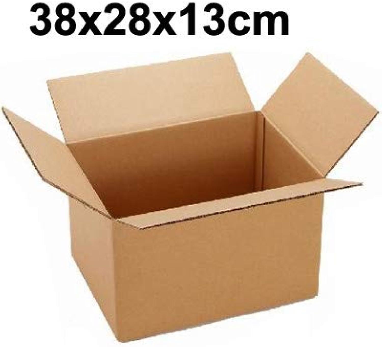 Praktisch Größe  38x28x13cm , Versand Verpackung Umzugskartons B07P6W47PW    Starke Hitze- und Abnutzungsbeständigkeit