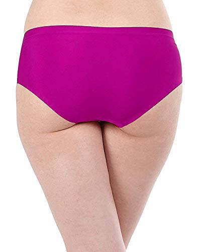 Dhruva Sales Women's Ice Silk Panties Seamless Panty Bikini Smooth Stretch Hipster Panty Set for Women (Pack of 3) ( Multi Colore) (l)