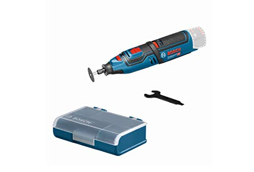 Bosch Professional 12V System Akku Rotationswerkzeug GRO 12V-35 (ohne Akkus und Ladegerät, inkl. Schlüssel, Spannzange, Trennscheibe, Zubehör Box, L-BOXX-Einlage, im Karton)