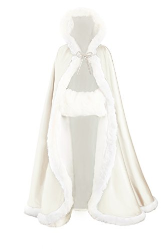 Wedding Cape Hooded Cloak for Bride…