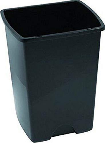 Cubo de basura sin tapa 25L, gris metalizado