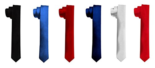 Michelangelo Men's Combo of 6 Slim Ties (Multicolour, Free Size)