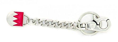 Goodman Design ® Schlüsselanhänger Charivari Anhänger Trachtenschmuck silber antik - Fränkischer Rechen - Geschenk Idee Geburtstag Tracht