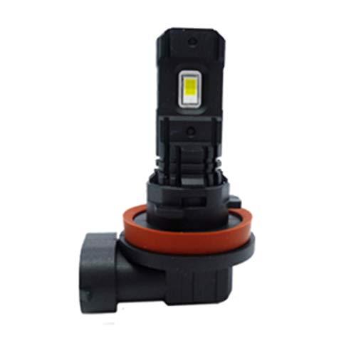MMGANG 1 par 100W H7 LED Luces de Coche 3000lm H11 H8 9006 H1 H3 Bombilla LED Blanco 6000K LED Fog Fog Light Lex 12V 24V H7 Luz de conducción (Socket Type : H1)