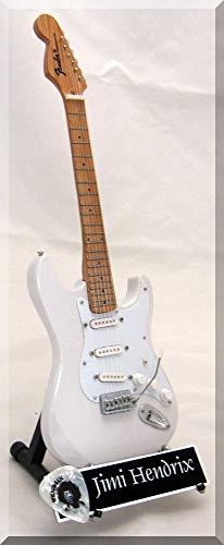 JIMI HENDRIX Réplica de guitarra miniatura con púa de guitarra