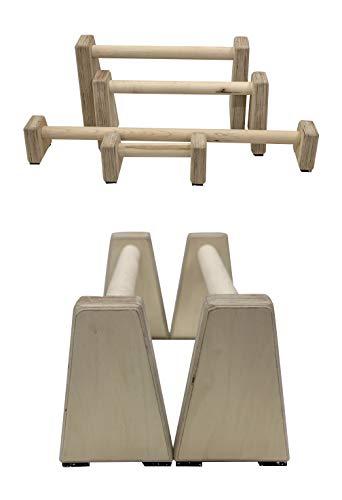 Barbarian Range Barras paralelas de madera de madera dura de varios tamaños (barras medianas)