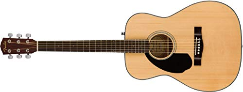 Fender 6 String CC-60S Concert Left-Handed Acoustic Guitar, Natural, 0 (970155021)