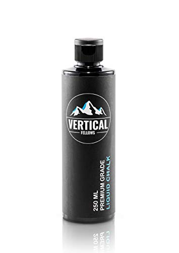 VERTICAL FELLOWS 250 ml Liquid Chalk – Tiza líquida para escalada, escalada, levantamiento de pesas, crossfit, magnesio líquido para gimnasia