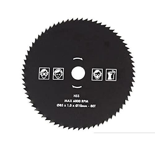 SANKUAI Lame de scie Circulaire de 1pc 85 x 10mm HSS Lame de scie 60T / 72T / 80T (Couleur : 72T, Taille : 1.0mm)
