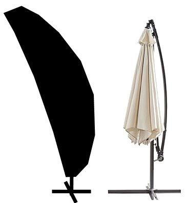 HBCOLLECTION Housse Premium avec Tige pour Parasol déporté avec Pied 280cm Polyester Noir