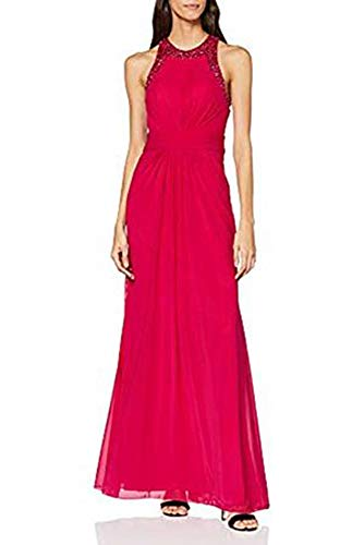Mascara Damen Cross Waist Gown Kleid, Pink (Magenta), 46