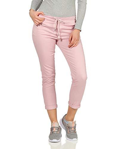 ZARMEXX dames chino broek stretch casual slipbroek katoenen broek met elastische band streetwear