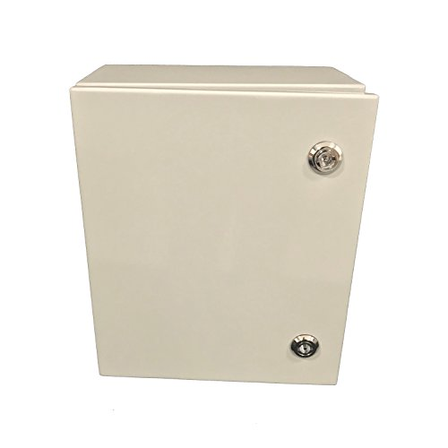 BUD Industries-SNB-3731 Stainless Steel Box– SNB Series NEMA 4 Electronic Box, Hard Shell, Water Tight Hardware for Electrical Applicons. Industrial Steel Enclosure