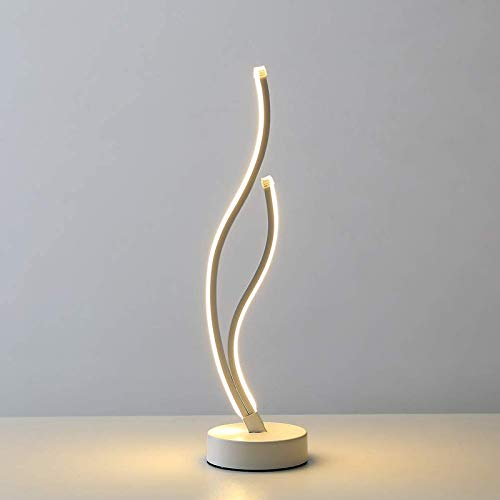 Lámpara De Mesa Led En Espiral, Moderna, Minimalista, 18w Oscurecimiento Continuo Led Curvo Lámpara De Noche para Oficina De Sala De Estar De Dormitorio