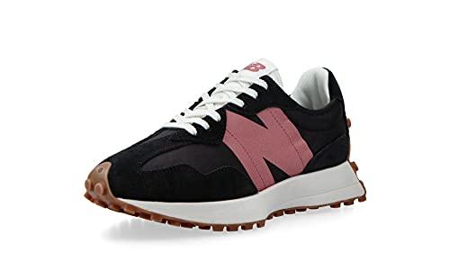 New Balance - Zapatillas para mujer 327., negro y rosa, 39 EU