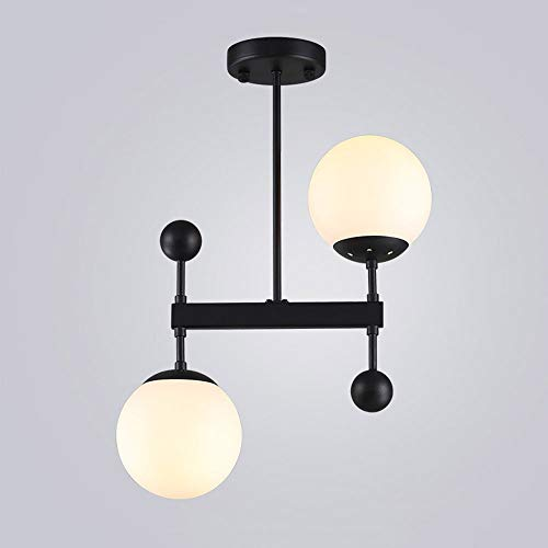 Kroonluchter van glas postmodern hanger licht creatieve bar restaurant hanglamp E27 LED plafondlamp woonkamer eetkamer hal decoratie plafondlamp lampen (kleur: goud)