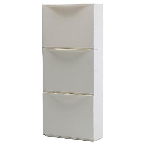 IKEA(イケア) TRONES ホワイト 00189087 シューズキャビネット/収納、ホワイト