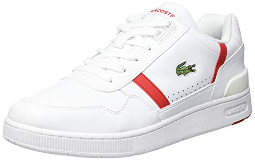 Lacoste Sport Herren T-Clip 0721 2 SMA Sneaker, Wht/Red, 39.5 EU