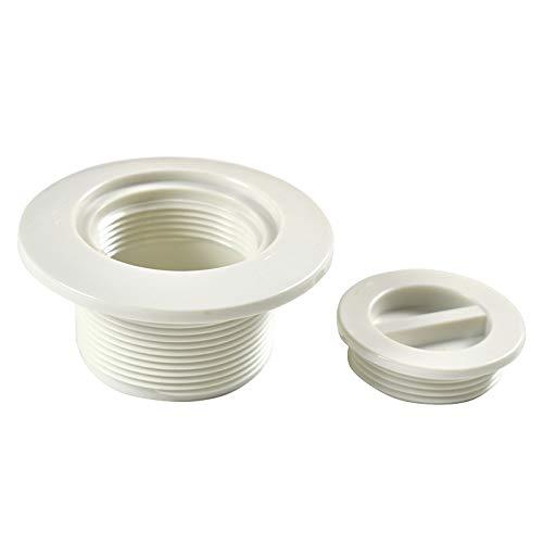 YAMAZA - Boquilla de entrada para piscinas de pared de acero, boquilla de retorno con cabezal giratorio, accesorio de piscina, diámetro de 5 cm, cantidad: 1 unidad