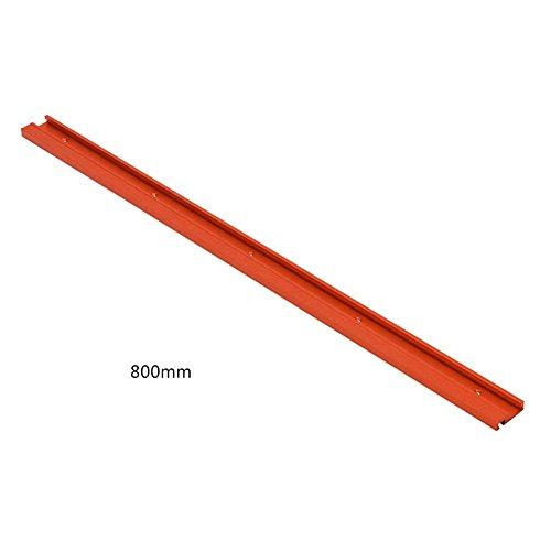 Tipo de riel guía inglete riel de inglete riel guía para Sierra de Mesa Herramientas para Trabajar la Madera Bricolaje T-Slot 600mm / 800mm Rojo