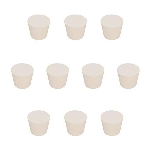 stonylab Vollgummi Stopper, 10 Stück Weiß Keilförmig Labor Dichtung Gummistopper