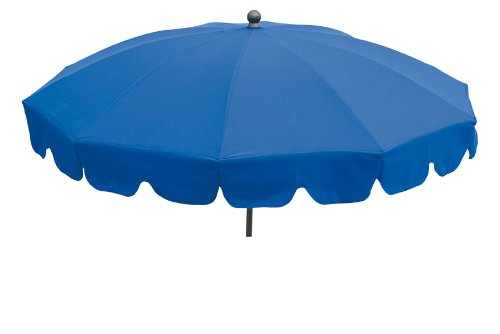 Maffei Art 84 Allegro, Parasol Rond diamètre cm 200, Tissu Dralon, Made in Italy. EXCLUSIVITE Couleur Bleu Roi