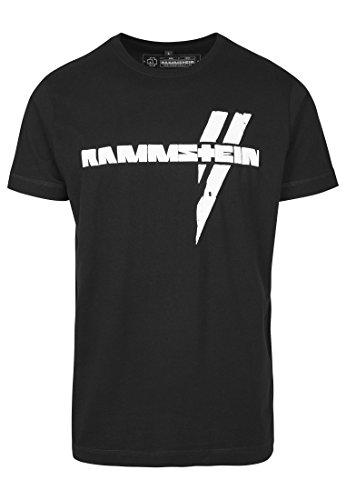 Rammstein Weiße Balken Tee T-Shirt, Black, XL Homme