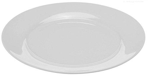 Teller Speiseteller Suppenteller Dessertteller Porzellan Weiß 6 Stück Modellauswahl, Modell:24.5 cm Ø Teller flach