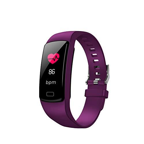 SparY Fitness Tracker-Smart Watch Fitness Wristband-Rastreador de Actividad de presión Arterial a Prueba de Agua con cronómetro,GPS,podómetro,Contador de Pasos para Mujeres Hombres(Púrpura)